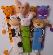 Cutie Bookmarks by JollyMe Felt Studio