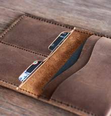 Leather wallet & passport case by Book.Idea