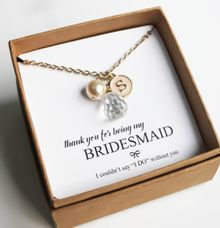 Custom Bridesmaid Necklace by Trinket Cove