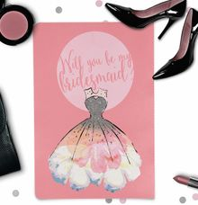 Will you be my bridesmaid invitation by She.Fox Invitations