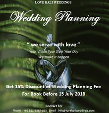 Love Bali Weddings Special Offer by Love Bali Weddings