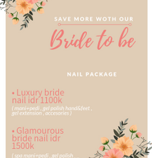 Bride to be nails package by Elegant Nail Indonesia