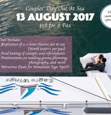 Couple Day Out At Sea by Eagle Wings Yacht Charters Pte Ltd