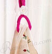 CROCHET TOWEL HOLDER by rasacinta