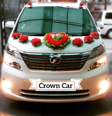 Wedding car rental by Crown Car Rental