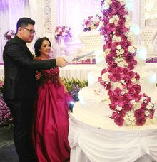 happy wedding for Army & Grace by Pelangi Cake