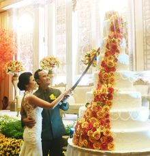 happy wedding for Gandhi & Vinia by Pelangi Cake