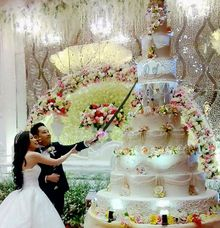 happy wedding Devin ❤ Sylvia by Pelangi Cake