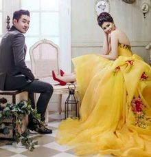 Yellow Ballgown by Klanning Prewedding