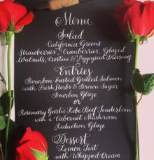 Menu by DC Calligraphy