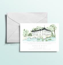 Chateau Trebesice | Custom Illustration Invitation by Sasa Khalisa Illustration & Design