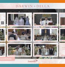 Darwin & Della Virtual Online Wedding Live Streaming Holy Matrimony by Truevindo