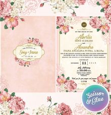 Vintage floral in pink by Scissor & Glue