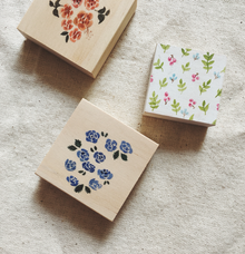 Floral Rubber Stamps Handles by Drool Stamps