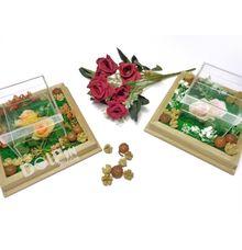Kotak Cincin Akrilik Transparan/Nampan Kayu AC by Dolpin Wedding Gallery