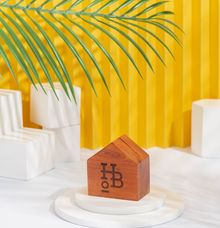 Customized Wooden Table Number for House of Brooklyn Jakarta by Dekornata