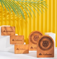 Customized Wooden Tag for BCA Solitaire by Dekornata