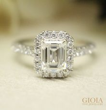 Emerald-cut Diamond Proposal Ring by GIOIA FINE JEWELLERY