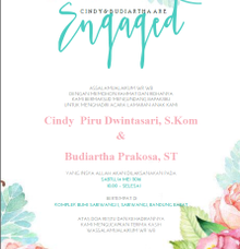 Engagement Invitation by Clar's Invitation