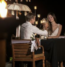 Romantic Candle Light Dinner by The Kayon Jungle Resort
