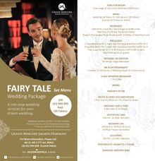 One Stop Package Fairy Tale Wedding by GRAND MERCURE Jakarta Harmoni