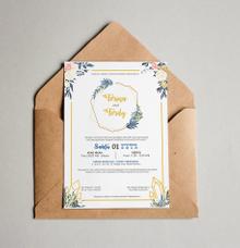 Wedding Invitation of Ferina & Ferdy by Blujo Inc.