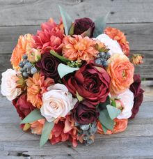 Faux or Artificial Flowers Wedding Bouquet by Maxwell Flowers