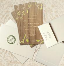 Thomas & Sherry Wedding Invitation by Blue Label Invitation
