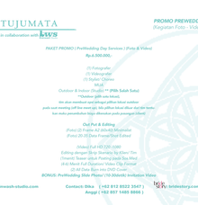 Info Promo Packages (Prewedding) by TUJUMATA Photography