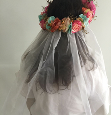 Custom flower crown by Woohoo Party Supplies