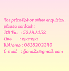 Price List by Bubblelicious Soap & Souvenirs