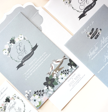 Romantic bird in grey by Joyeux Moment