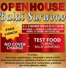 OPEN HOUSE BALAI SARWONO by Balai Sarwono