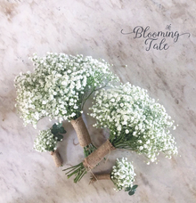 Baby breath bridesmaid bouquet by Blooming Tale