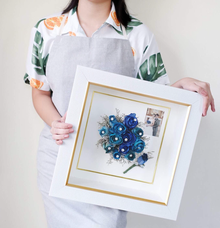 Lorie-Reian Wedding Preserved Blue Roses by Camila V Flower Preservation Studio