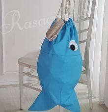 FISH SHAPED LAUNDRY BAG by rasacinta