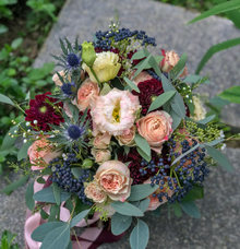 Roses and Dahlias for Bride H by Florals Actually