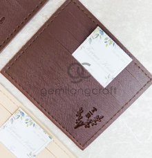 Premium card wallet for Tya and Adit by Gemilang Craft