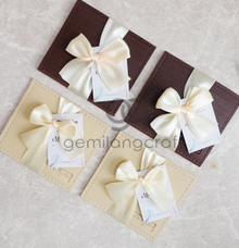 Premium card wallet for Melani & Syahid by Gemilang Craft