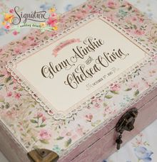 Wedding gift box for Glenn & Chelsea by Signature Wedding Details