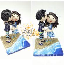 Cute Couple Figure (TypeB) Beach Theme by Zakti Laboratory Inc