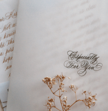 Love letter - Anniversary letter - Custom letter by Grace and Truly Calligraphy