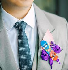 Skateboard-inspired Boutonniere by Bride Of Marc