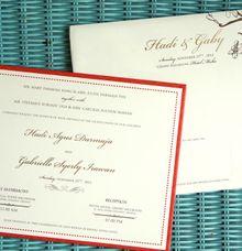 HADY-GABBY INVITATION by PAPERLINK