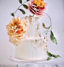 Wedding Cake for Eunice & Kai Min by Haute Cakes Singapore