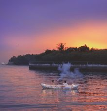 Romantic Sunset by Eagle Wings Yacht Charters Pte Ltd