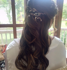 Hairstyle for our Bride by Headmasters Philippines
