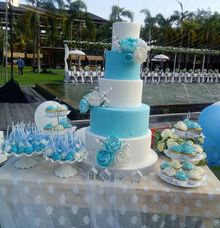 Wedding Cake Project at taman bhagawan nusa dua bali by Henny Cookies and Cakes, Bali