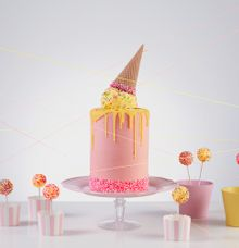 MELTED ICE CREAM CONE CAKE by Fleur