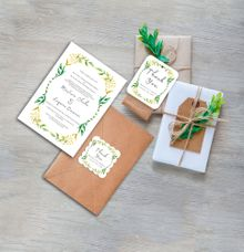 Herby Frame Wedding Invitation by Gift Elements